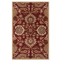 Surya Caesar 9' x 12' Hand Tufted Area Rug in Red/Cream