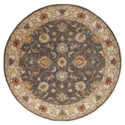 Surya Caesar Clic Hand Tufted 6 Round Area Rug In Charcoal