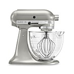 KitchenAid® 5 qt. Artisan® Design Series Stand Mixer with Glass Bowl in Sugar Pearl Silver