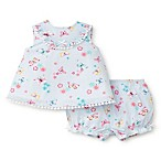 Little Me® Size 3M 2-Piece Striped Butterfly Tunic and Bloomer Set in Blue