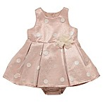 Baby Starters® Size 3M Dot Dress and Diaper Cover Set in Rose Gold