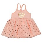 "Baby Starters® Size 12M ""Love You"" Bodysuit Dress in Blush"