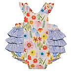 Baby Starters® Size 6M Wildflower Sunsuit in White/Blue