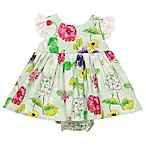 Baby Starters® Size 3M 2-Piece Wild Flower Dress and Diaper Cover Set in Mint