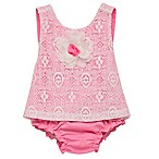 Baby Starters® Size 6M 2-Piece 3D Rose Top and Diaper Cover Set in Pink