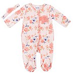 Nicole Miller Size 3-6M 2-Piece Floral Footie and Headband in Coral