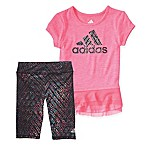 adidas® Size 12M 2-Piece Energy Capri Tight and Tail Skirt Top Set in Pink