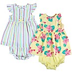 Baby Essentials Size 18M 4-Piece Spring Dress and Diaper Cover Set
