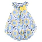Baby Essentials Size 6M Ruffle Collar Daisy Romper in Yellow/Blue