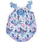 Baby Essentials Size 3M Floral Romper in Blue