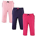 Hudson Baby® Size 0-3M 3-Pack Ruffled Pants