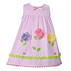 Bonnie Baby Size 3-6M 2-Piece Gingham Floral Dress in Pink