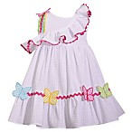 Bonnie Baby® Size 3-6M Butterfly Dress in White