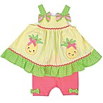 Nanette Baby® Size 12M 2-Piece Pineapple Seersucker Shorts Set in Yellow