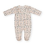 Jessica Simpson Size 6-9M Long Sleeve Ikat Footie in Peach