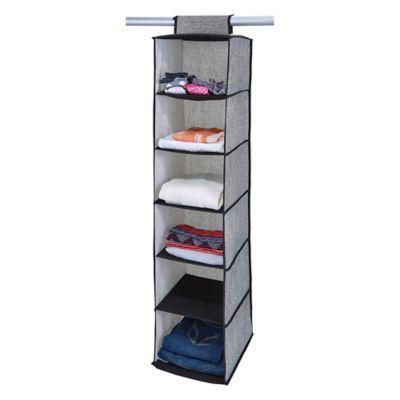Simplify 6-Shelf Hanging Sweater Organizer in Black  sc 1 st  Bed Bath u0026 Beyond & Buy Hanging Sweater Storage from Bed Bath u0026 Beyond
