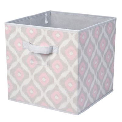 Macbeth Ikat Collection 12 Inch Multicolor Collapsible Storage Cube