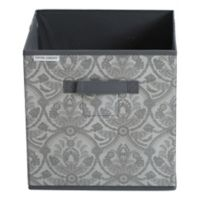 Laura Ashley® Almeida Non-Woven 12-Inch x 12-Inch Collapsible Storage Cube in Grey