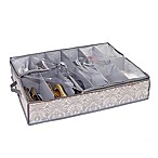 Laura Ashley® Almeida Non-Woven 12-Pair Under-The-Bed Shoe Storage Box in Grey