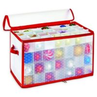 Simplify 112-Count Holiday Ornament Organizer in Red