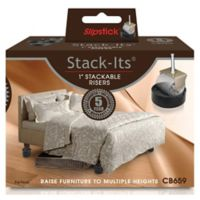 Slipstick Stack-Its 1-Inch Adjustable Furniture and Bed Lifts (Set of 8)