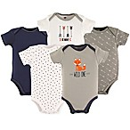 Hudson Baby® Size 18-24M 5-Pack Short Sleeve Wild One Bodysuits in Grey