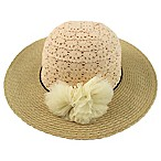 Rising Star™ Infant Crochet Lace Floppy Hat in Natural