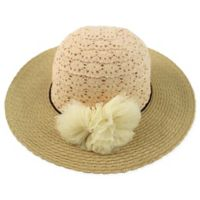 Rising Star™ Newborn Crochet Lace Floppy Hat in Natural