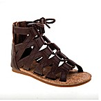 Laura Ashley® Size 0-3M Gladiator Sandal in Brown