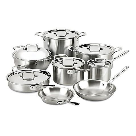 All Clad D5 174 Brushed Stainless Steel 14 Piece Cookware Set
