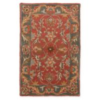 Surya Caesar Vintage-Inspired 2' x 3' Accent Rug in Red/Grey