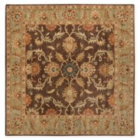 Surya Caesar Vintage-Inspired 4' Square Accent Rug in Brown/Tan