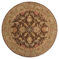 Surya Caesar Vintage-Inspired 4' Round Accent Rug in Brown/Tan