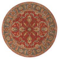 Surya Caesar Vintage-Inspired 6' Round Area Rug in Red/Grey