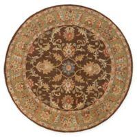 Surya Caesar Vintage-Inspired 6' Round Area Rug in Brown/Tan