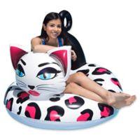 Poolmaster Pretty Kitty Tube Float in Pink/White