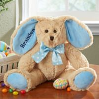 Some-Bunny Special Embroidered Plush Bunny in Blue