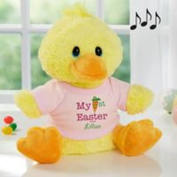 Aurora World My First Easter Quacking Plush Duck in Pink