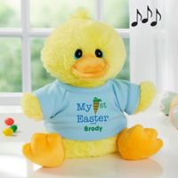 Aurora World My First Easter Quacking Plush Duck in Blue