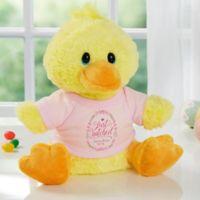 Aurora World Just Hatched Quacking Plush Duck in Pink