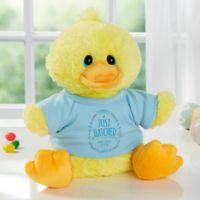 Aurora World Just Hatched Quacking Plush Duck in Blue