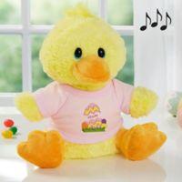 Aurora World Easter Egg Quacking Plush Duck in Pink