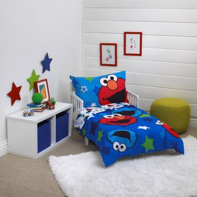 Toddler Bedding Sets U003e Sesame Street® Awsome Buds 4 Piece Toddler Bedding  Set