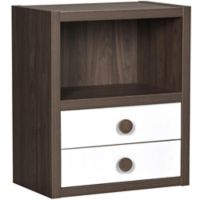 Sierra Ridge Terra Modular Bookcase with Drawers in Walnut/White