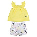Tommy Hilfiger® Size 12M 2-Piece Ruffle Shirt and Short Set in Yellow