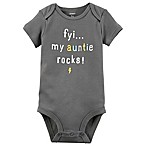 carter's® Size 12M  FYI My Auntie Rocks  Bodysuit in Grey