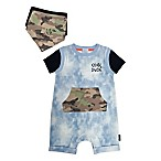 "Mini Heroes Size 9M 2-Piece ""Cool Dude"" Denim Coverall and Bandana Set"