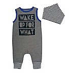 "Mini Heroes Newborn 2-Piece ""Wake Up For What"" Coverall and Bandana Set"