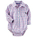 OshKosh B'gosh® Size 0-3M Easter Egg Plaid Bodysuit in Purple