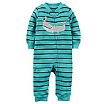 carter's® Size 6M Zip-Up Whale Sleep & Play Coverall in Turquoise